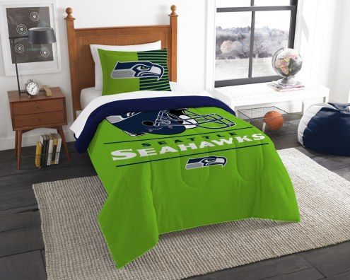 Seattle Seahawks Draft Twin Comforter Set