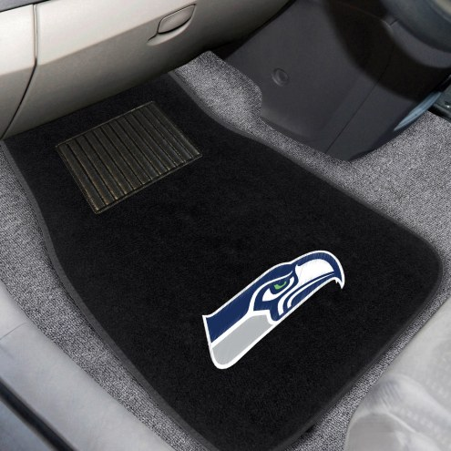 Seattle Seahawks Embroidered Car Mats
