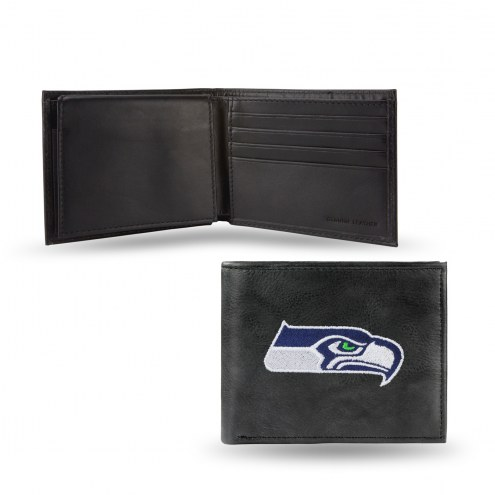 Seattle Seahawks Embroidered Leather Billfold Wallet