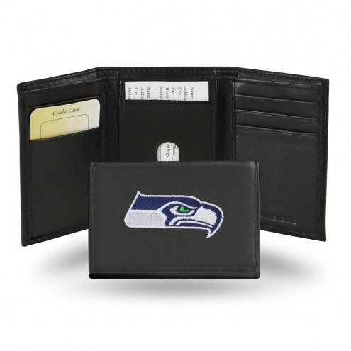Seattle Seahawks Embroidered Leather Tri-Fold Wallet