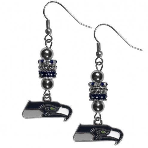 Seattle Seahawks Euro Bead Earrings