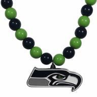 Seattle Seahawks Fan Bead Necklace