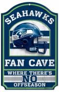 Seattle Seahawks Fan Cave Wood Sign