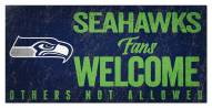 Seattle Seahawks Fans Welcome Sign