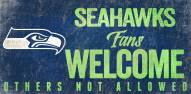 Seattle Seahawks Fans Welcome Wood Sign