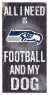 Seattle Seahawks Football & My Dog Sign