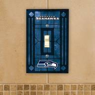 Seattle Seahawks Glass Single Light Switch Plate Cover