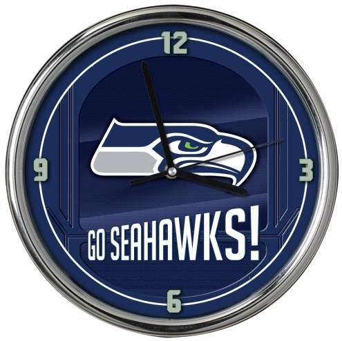 Seattle Seahawks Go Team Chrome Clock