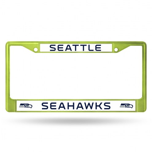Seattle Seahawks Green Colored Chrome License Plate Frame