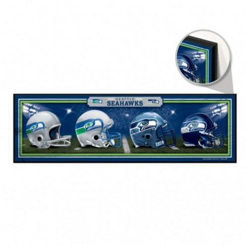 Seattle Seahawks Helmets Wood Sign