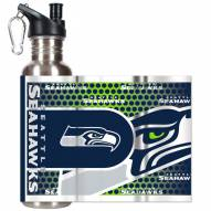 Seattle Seahawks Hi-Def Stainless Steel Water Bottle
