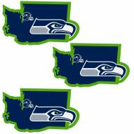 Seattle Seahawks Home State Decal - 3 Pack