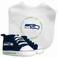 Seattle Seahawks Infant Bib & Shoes Gift Set