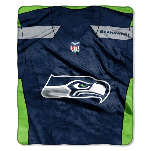 Seattle Seahawks Jersey Raschel Throw Blanket