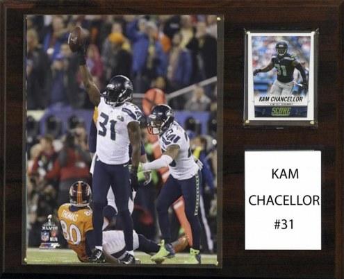 "Seattle Seahawks Kam Chancellor 12"" x 15"" Player Plaque"
