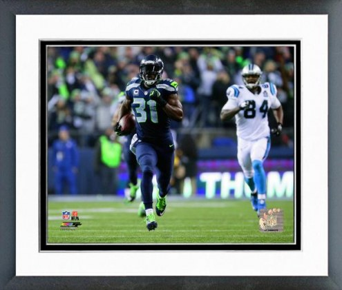 Seattle Seahawks Kam Chancellor Interception Playoff Action Framed Photo