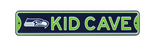 Seattle Seahawks Kid Cave Street Sign