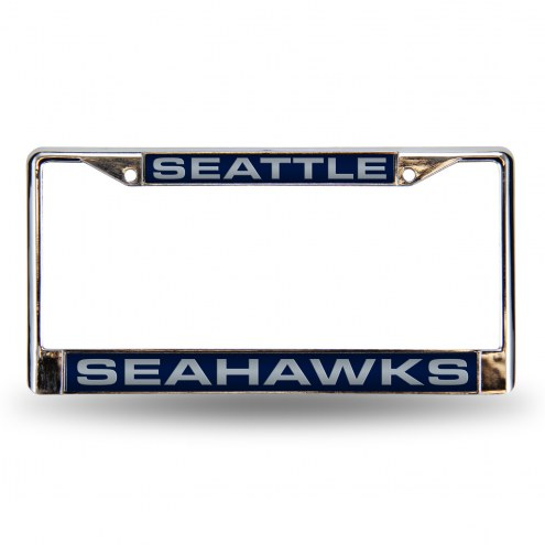 Seattle Seahawks Laser Chrome License Plate Frame