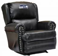 Seattle Seahawks Leather Coach Recliner