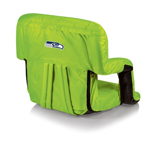 Seattle Seahawks Lime Ventura Portable Outdoor Recliner