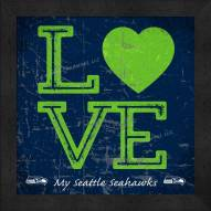 Seattle Seahawks Love My Team Color Wall Decor