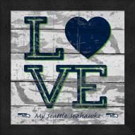 Seattle Seahawks Love My Team Square Wall Decor