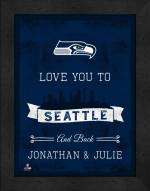 Seattle Seahawks Love You to and Back Framed Print