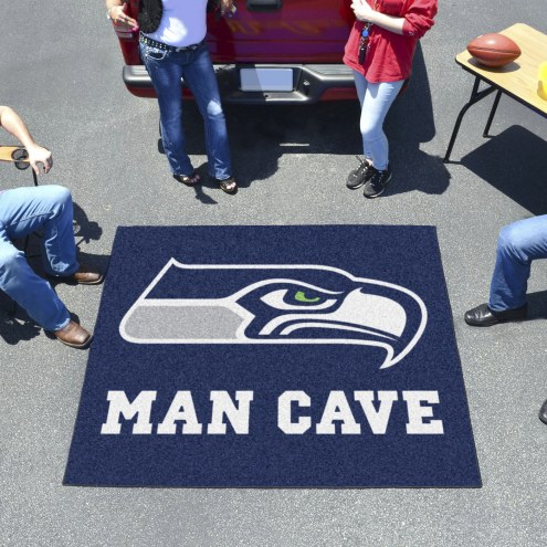 Seattle Seahawks Man Cave Tailgate Mat