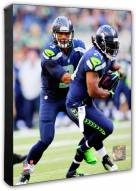Seattle Seahawks Marshawn Lynch & Russell Wilson Action Photo