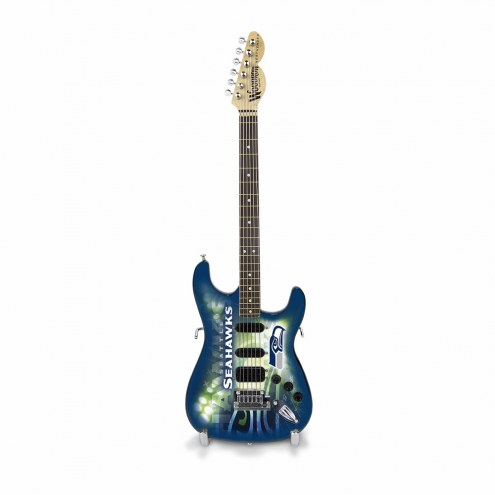 Seattle Seahawks Mini Collectible Guitar