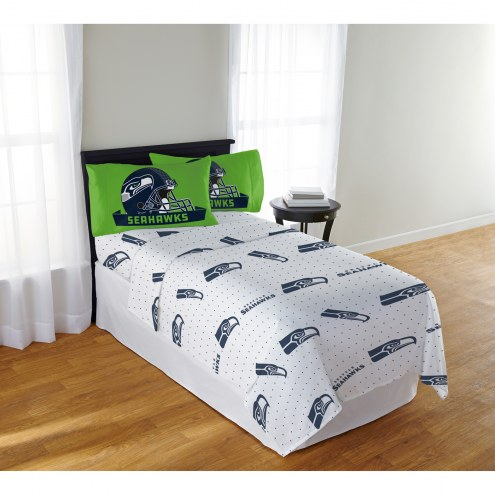 Seattle Seahawks Monument Full Bed Sheets
