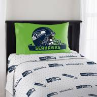 Seattle Seahawks Monument Twin Bed Sheets
