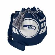 Seattle Seahawks Navy Ripple Drawstring Bucket Bag