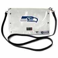 Seattle Seahawks Clear Envelope Purse
