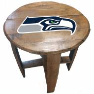 Seattle Seahawks Oak Barrel Table