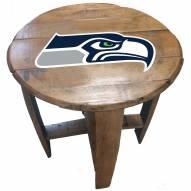 Seattle Seahawks Oak Barrel Table