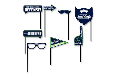 Seattle Seahawks Party Props Selfie Kit