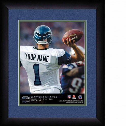 Seattle Seahawks Personalized 13 x 16 NFL Action QB Framed Print