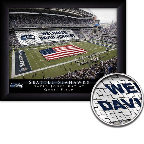 Seattle Seahawks 11 x 14 Personalized Framed Stadium Print