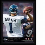 Seattle Seahawks Personalized 11 x 14 NFL Action QB Framed Print