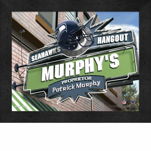 Seattle Seahawks 11 x 14 Personalized Framed Sports Pub Print