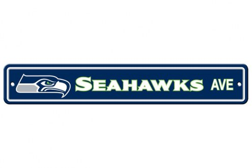 Seattle Seahawks Plastic Street Sign