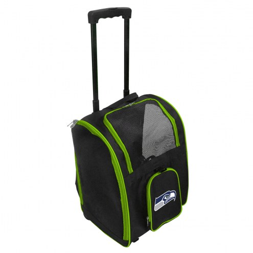 Seattle Seahawks Premium Pet Carrier with Wheels