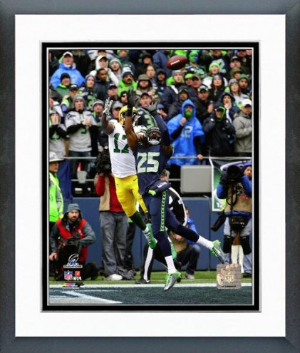Seattle Seahawks Richard Sherman Interception Playoffs Framed Photo