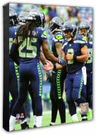 Seattle Seahawks Richard Sherman & Russell Wilson Action Photo