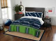 Seattle Seahawks Rotary Queen Bed in a Bag Set