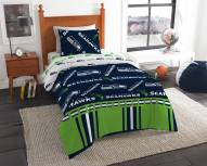Seattle Seahawks Rotary Twin Bed in a Bag Set