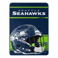 Seattle Seahawks Run Raschel Blanket