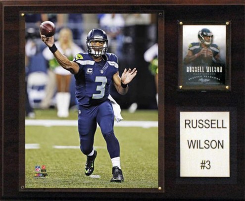 """Seattle Seahawks Russell Wilson 12 x 15"""" Player Plaque"""