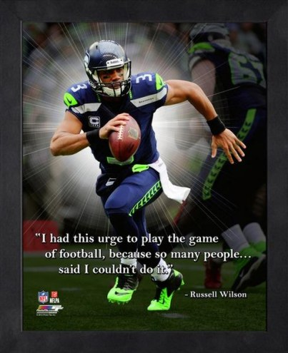 Seattle Seahawks Russell Wilson Framed Pro Quote
